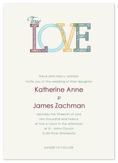 wedding invitations - LOVE by Jen Wawrzyniak