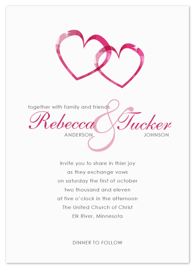 wedding invitations - Two Hearts by Jen Wawrzyniak