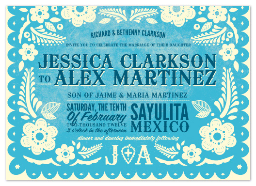 wedding invitations - Papel Picado by Andres Montaño