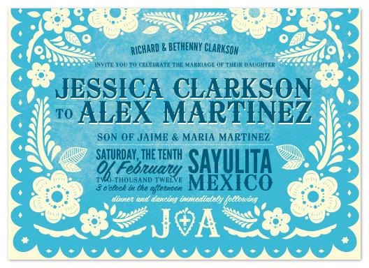 wedding invitations - Papel Picado by Andres Montaño