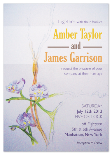 wedding invitations - Royal Purple Orchids by Angela Chih