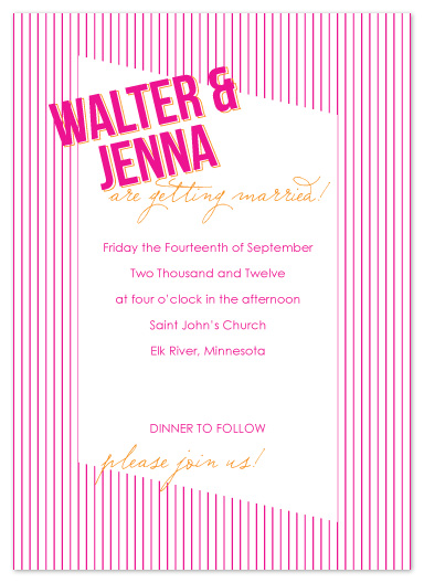 wedding invitations - Stripes by Jen Wawrzyniak