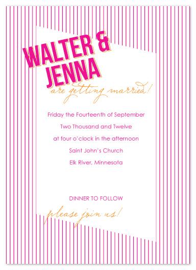 wedding invitations - Stripes by Jen Wawrzyniak