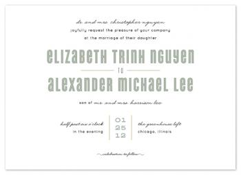 Cyclone Classic Twist Wedding Invitations