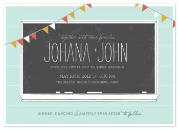 Chalkboard Love Wedding Invitations