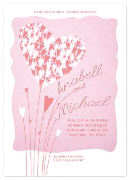 hearts_flowers Wedding Invitations