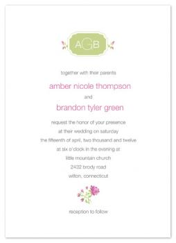 Organic Love Wedding Invitations
