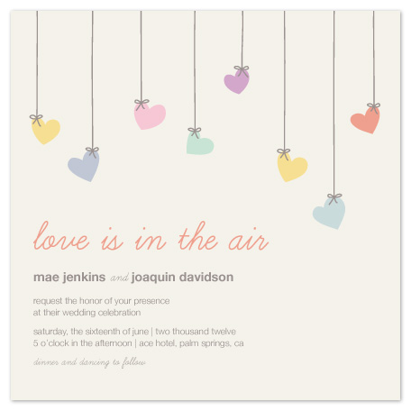 wedding invitations - Love is in the Air by Amber Barkley