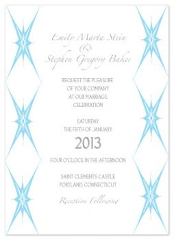 Ornamental Stars Wedding Invitations