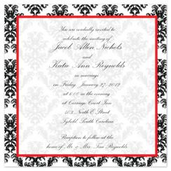 Bold Damask Wedding Invitations