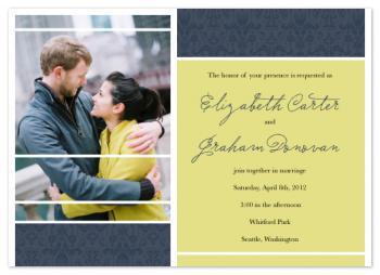 Seattle Ikat Wedding Invitations
