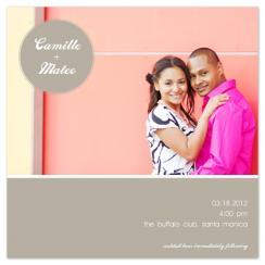 Neutral Nuptials Wedding Invitations