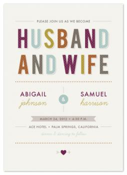 Husband and Wife Wedding Invitations