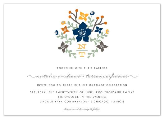 wedding invitations - Floral Initials by Lehan Veenker