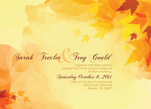 wedding invitations - Falling in Love by Heather.