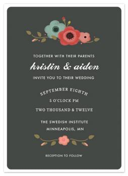 Swedish Garden Wedding Invitations