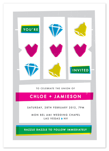 wedding invitations - jackpot by Paper Rose