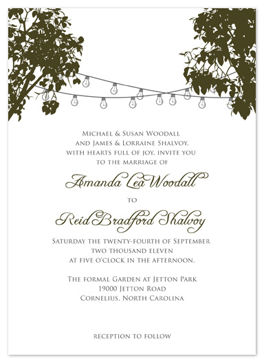 wedding invitations - Cafe Lights by Truly Noted