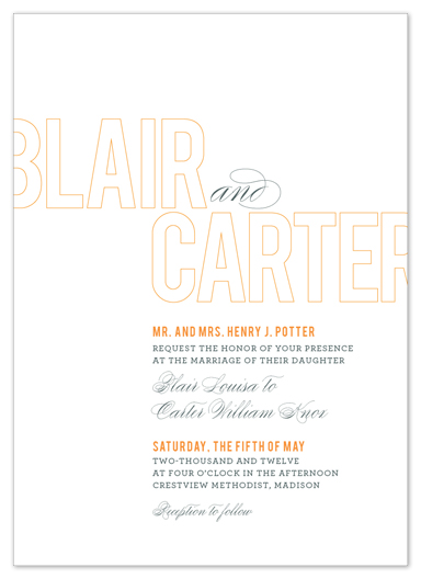 wedding invitations - outlined by Stacey Day