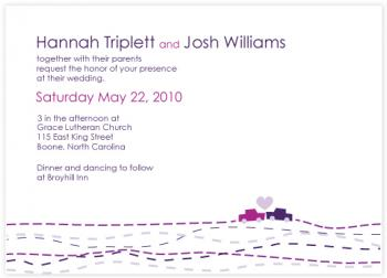 Loves Journey Wedding Invitations