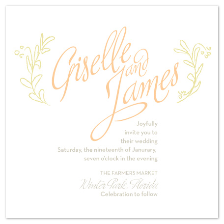 wedding invitations - Leaves and Berries by Carrie Rucks