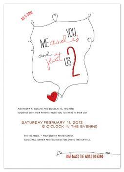 Just Us Two Wedding Invitations