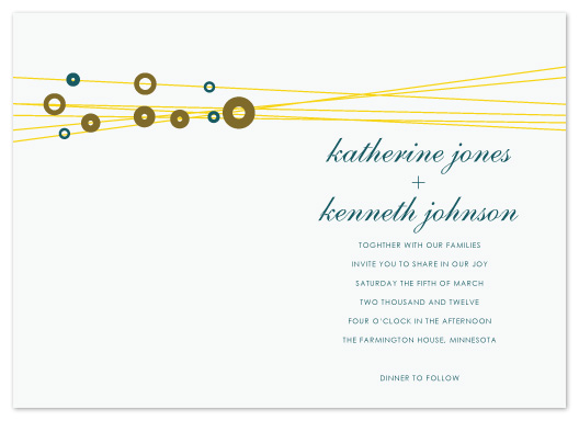 wedding invitations - Golden Strings by Jen Wawrzyniak