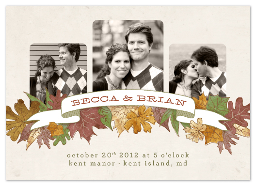 wedding invitations - Autumn Banner by Erin Pescetto