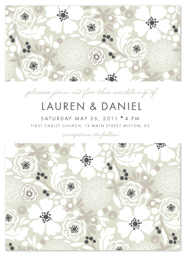 wedding invitations - Simple Floral by Alethea and Ruth