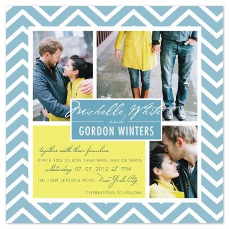 wedding invitations - Rain, Hail or Shine by Rachel Mense