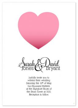 Sophisticated Heart Wedding Invitations
