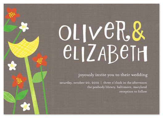 wedding invitations - Happy Garden by Vicky Barone