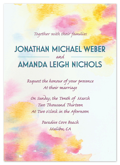 wedding invitations - Sunny Color Drops by Justine Massa