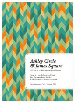 Modern Knit Geometric Wedding Invitations