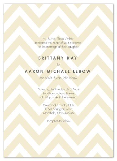 wedding invitations - Simple Chevron by Andi Pahl