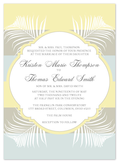 wedding invitations - Palms and Bold Stripes by Andi Pahl