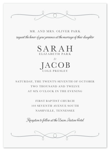 wedding invitations - Formality