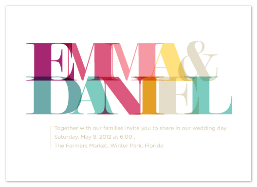 wedding invitations - Modern Memoir by Carrie Rucks