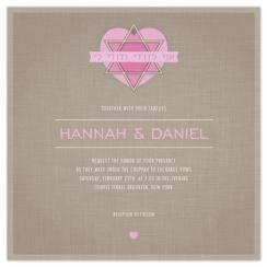 Modern Jewish Star Wedding Invitations