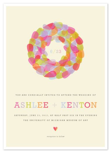 wedding invitations - Pastel Wreath by Kristie Kern