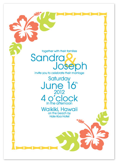 wedding invitations - Hawaiian Flowers by KtRazz