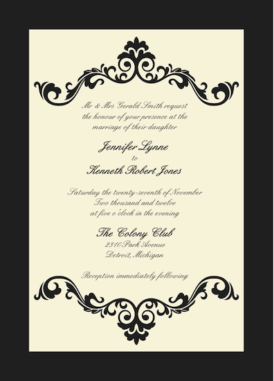 wedding invitations - Grandeur  by Jessica Smith