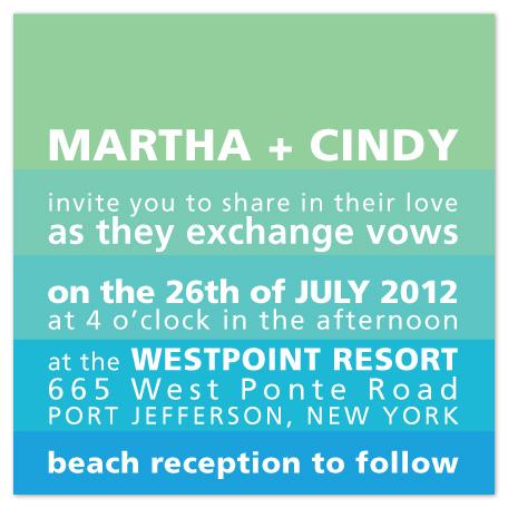 wedding invitations - waves of aqua by R studio