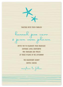 Beachy Bliss Wedding Invitations