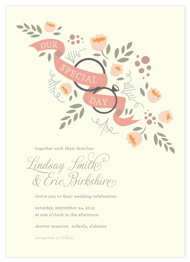 wedding invitations - Ring Bouquet