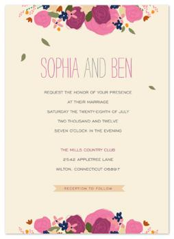Country Elegance Wedding Invitations