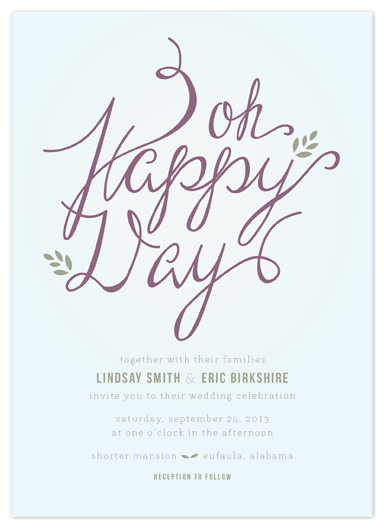 wedding invitations - Happy Day