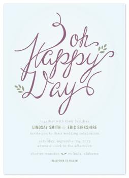 Happy Day Wedding Invitations