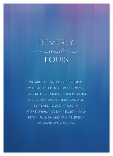 wedding invitations - Reflections by Ann Gardner