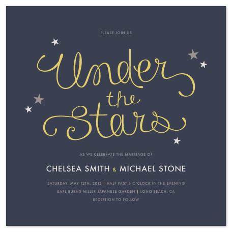 wedding invitations - Under the Stars by Amber Barkley